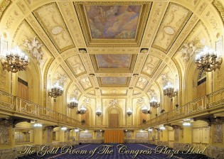 The Gold Room of the Congress Plaza Hotel